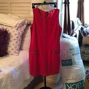 Pink, pocket midi dress